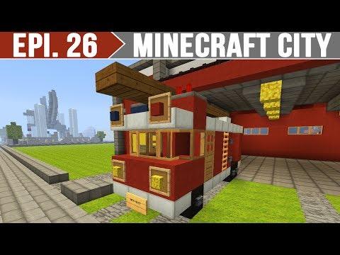 Minecraft City - Caminhão de Bombeiros