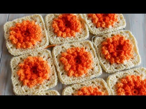 How to Crochet my Sunburst Granny Square