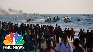 Palestinians Protest Gaza Blockade On Land And Sea | NBC News - NBCNEWS