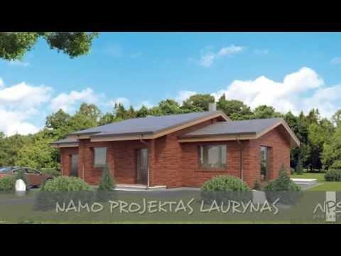 Vieno aukšto namo projektas Laurynas| NPS projektai - namų projektavimas, statyba