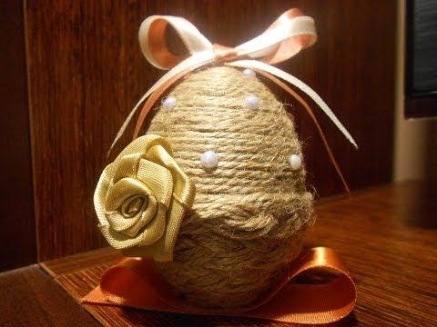 Wielkanocna pisanka ze sznurka