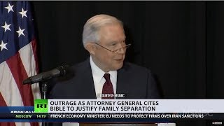 Divine intervention? AG Sessions slammed for citing Bible to justify family separation - RUSSIATODAY