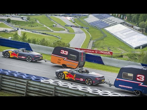Видео: Макс Ферстаппен и Даниэль Риккардо в гонке с прицепами
