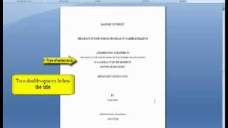 how to make a title page for a research paper chicago style