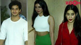 Ishaan Khatter & Jhanvi Kapoor With Sister Khushi Kapoor At Manish Malhotra's Party - ZOOMDEKHO
