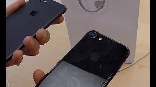 Распаковка и обзор черного iPhone 7