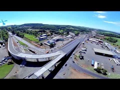 Trevo de Chapecó em construção - imagens aereas
