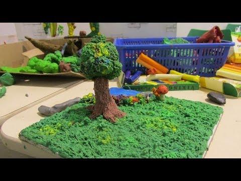 Taller educativo para niños de arte en plastilina