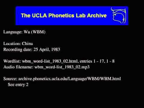 Wa audio: wbm_word-list_1983_02
