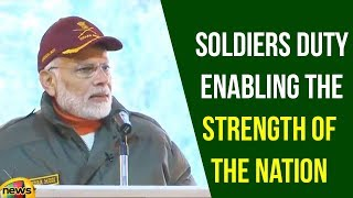 PM Modi Says That Soldiers Duty In The Remote Icy Heights is Enabling The Strength Of The Nation - MANGONEWS