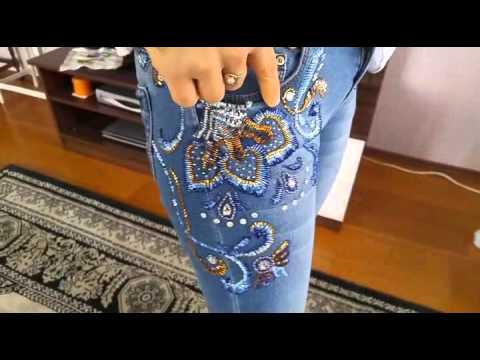 Схемы вышивки бисером на джинсах 28