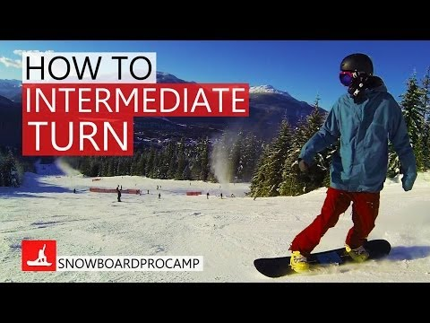 How to do Intermediate Snowboard Turns - How to Snowboard