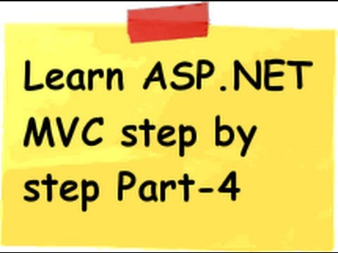 ASP.NET MVC Model view controller ( MVC) Step by Step Part 4