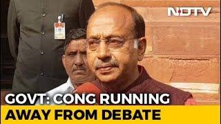 Ready For Rafale Debate In Parliament, Congress Running Away: Vijay Goel - NDTV