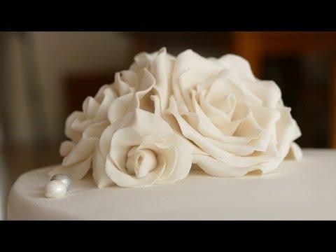 Rosen aus Blütenpaste | Gumpaste Rose Tutorial | Deko für Motivtorten/Hochzeitstorten