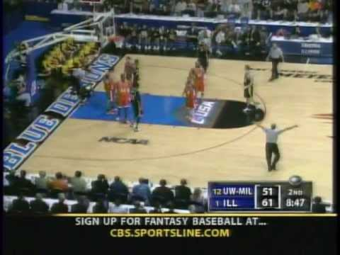 #1 Illinois vs #12 Wisconsin-Milwaukee Ncaa Tournament Sweet 16 2005 (Full Game)