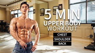 5 MIN UPPER BODY WORKOUT (NO EQUIPMENT NEEDED)