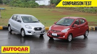 Hyundai Eon 1.0 vs Datsun Go | Comparison Test - Datsun Videos