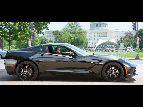 Scarlett Johansson's Hot Corvette Captain America Interview CARJAM TV 2014