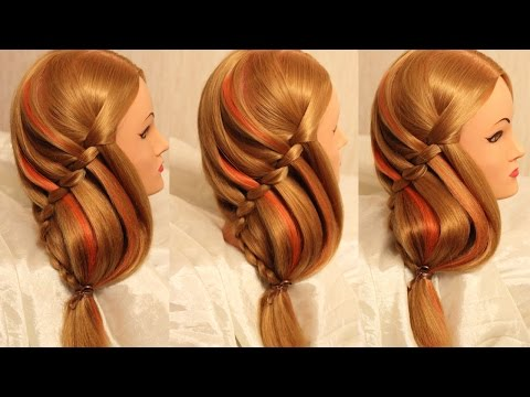 """Праздничная причёска - """"Морской конёк"""" на длинные волосы"""