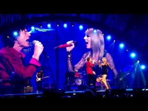 Taylor Swift cantó junto a Mick Jagger