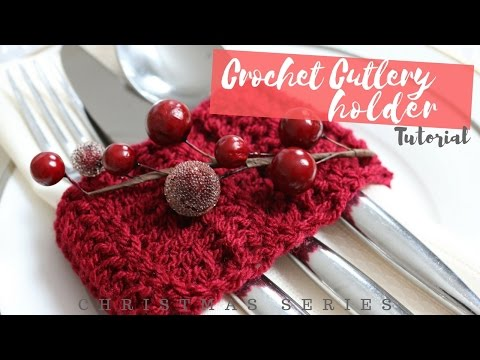 CHRISTMAS SERIES: Crochet Cutlery Holder | Bella Coco
