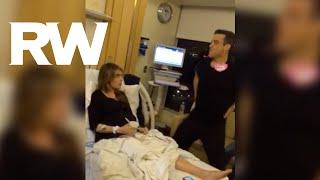 louboutin يشهد على ولادة زوجة روبي ويليامز.. بالصورة والفيديو..