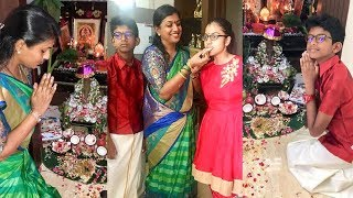 Actress Roja Selvamani Vinayaka Chavithi Celebrations With Family - RAJSHRITELUGU