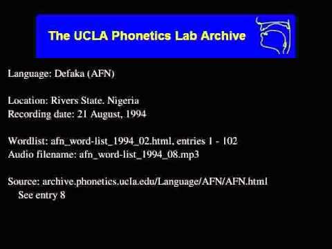 Defaka audio: afn_word-list_1994_08