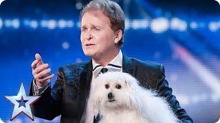 فيديو كلب يتحدث بطلاقة على مسرح بريطانيا غوت تالنت لن تصدقوا ذلك!