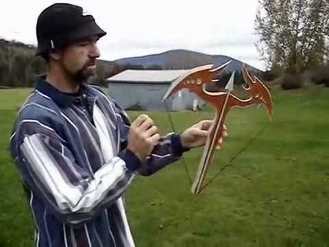 Tossbow returning BOOMERANG handcrafted VERY DANGEROUS