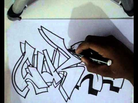 Vídeo Aula com Gene do Grafite 085 - Letra de Graffiti