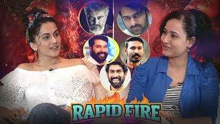 RAPID FIRE - Taapsee about Prabhas, Ajith, Rana Daggubati, Dhanush, Amitabh Bachchan, Mammootty - IGTELUGU