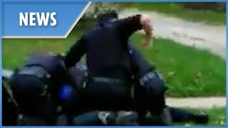Police appear to brutally punch restrained suspect (Akron) FULL - THESUNNEWSPAPER
