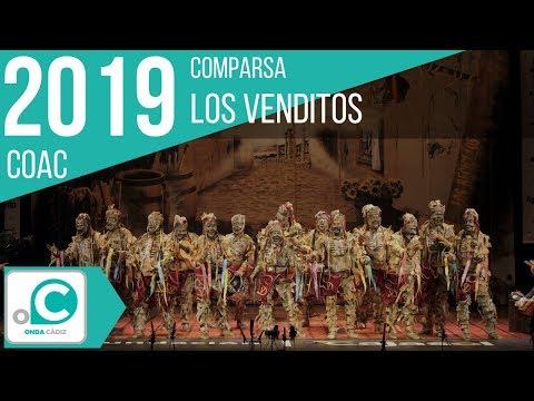 La agrupación Los venditos llega al COAC 2019 en la modalidad de Comparsas. En años anteriores (2018) concursaron en el Teatro Falla como Los noctámbulos, consiguiendo una clasificación en el concurso de Preliminares.