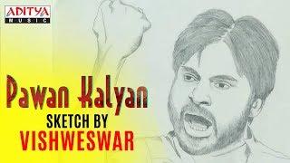 Pawan Kalyan Sketch by Vishweswar - Fan Made - ADITYAMUSIC