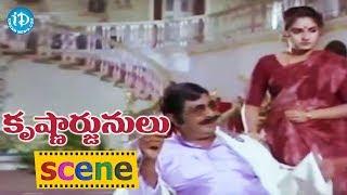 Krishnarjunulu Movie Scenes - Sri Devi Mother Falls Sick || Krishna, Sri Devi - IDREAMMOVIES