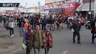 The final push: Migrant caravan leaves Mexicali and heads for Tijuana - RUSSIATODAY