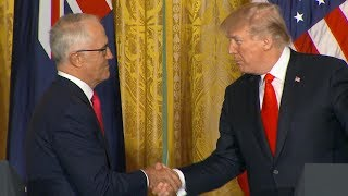 President Donald Trump Australian Prime Minister Turnbull hold joint news conference | ABC News - ABCNEWS