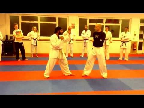 How to set up the karate yoku Geri side kick for mma.