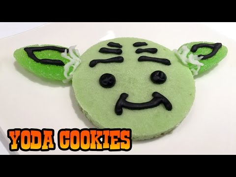 How to Make YODA COOKIES- Kid's Baking Lesson