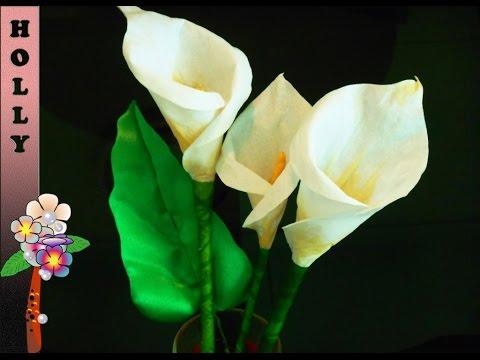 Калла, мастер класс цветы из бумаги