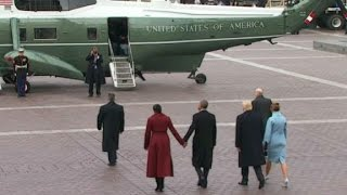 Trump, Obama depart inaugural ceremony - CNN
