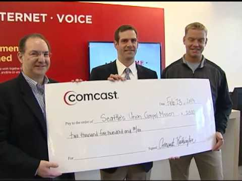 Grand Opening of Xfinity Service Center in Bellevue, Washington, with ESPN's Brock Huard