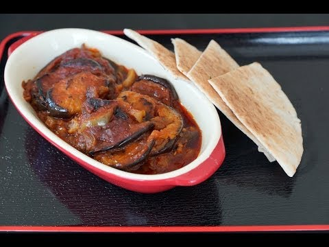 Musacaa (Egyptian Braised Eggplants) recipe.... طريقة عمل المسقعة المصري - صوت وصوره لايف