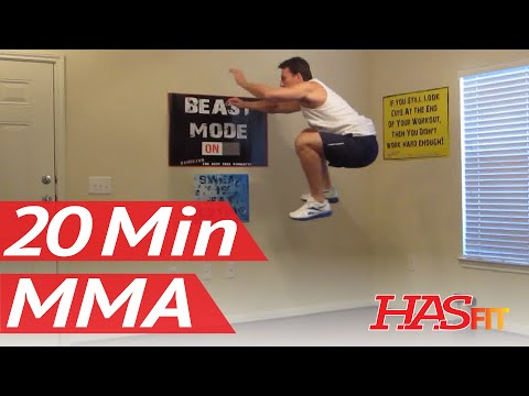 20 Minute MMA Training Exercise - HASfit Mixed Martial Arts Workout - MMA Fitness - UFC Training