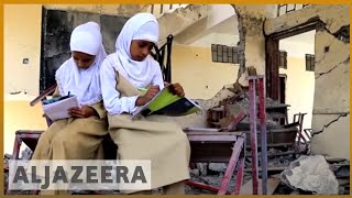 🇾🇪 In Yemen, children clamber over rubble to get to school | Al Jazeera English - ALJAZEERAENGLISH
