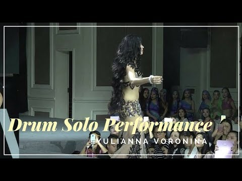 Belly Dance Drum Solo Performance Yulianna Voronina Oriental Belly Dance Drum Solo