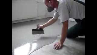 Самовыравнивающийся наливной пол, нанесение покрытия