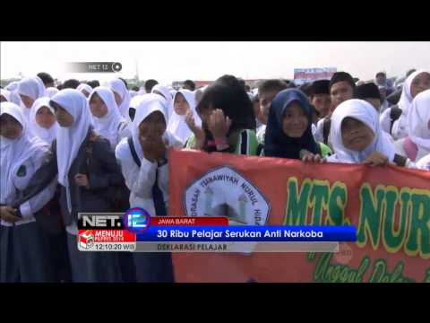 NET12 30 Ribu Pelajar Ikut Deklarasi Anti Narkoba dan Seks Bebas